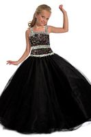 Party Time Perfect Angels 1506 Girls Black Multi Pageant Dress image