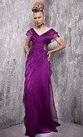 Jovani Off the Shoulder Tiered Chiffon Evening Dress 151842 image