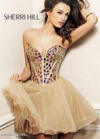 Sherri Hill Crystal Encrusted Short Party Dress 1530 image