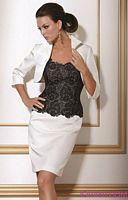 Jovani White Black Cocktail Dress 153671 image
