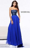 Sherri Hill 1539 Crystal Bodice Evening Dress image