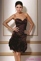 Jovani Evenings Satin Ruffle Mini Dress 158195 image