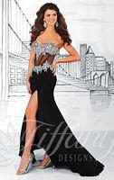 Tiffany 16050 Sheer Corset Formal Dress image