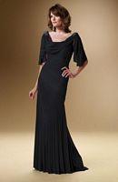 Rina Di Montella 1627 Elbow Sleeve Jersey Evening Dress image