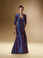 Rina Di Montella 1644 Iridescent Taffeta Mothers Gown with Jacket image