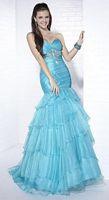 Tiffany Designs Tiered Organza Mermaid Evening Dress 16644 image