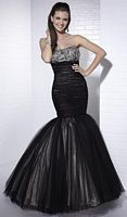 Tiffany Designs Tulle Evening Dress with Zip-Off Mermaid Skirt 16651 image