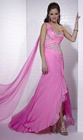 Tiffany Designs Beaded Chiffon Evening Dress with Float 16654 image