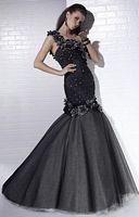 Tiffany Designs Metallic Flower Mermaid Evening Dress 16656 image