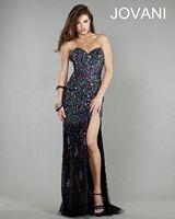 Jovani 1666 Sweetheart Beaded Long Dress image