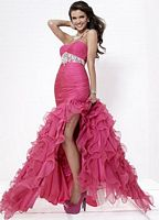 Tiffany Designs Ruffle Chiffon Prom Dress 16664 image