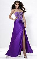 Tiffany Designs Strapless Beaded Bodice Prom Dress 16665 image