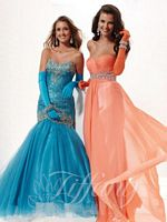 Tiffany 16744 Strapless Empire Evening Gown image