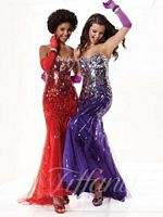 Tiffany 16746 Ombre Sequin on Tulle Trumpet Dress image