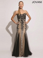 Jovani 1676 Silk and Tulle Formal Dress image