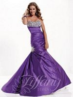 Tiffany 16769 Mermaid Gown with Rhinestone Empire Bodice image