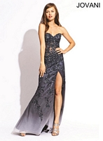 Jovani 1684 Ombre Sheer Corset Gown image