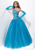 Tiffany Designs Presentation One Shoulder Tulle Ball Gown 16877 image