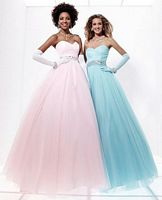 Tiffany Designs Presentation Tulle Ball Gown for Prom 16879 image