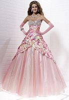 Tiffany Designs Presentation Pink Multi Print Ball Gown 16880 image