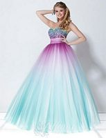 Tiffany Designs Presentation Tulle Ombre Ball Gown 16897 image