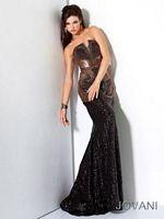 Jovani Sequin Evening Gown 17100 image