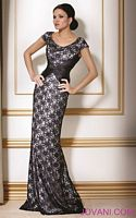 Jovani Black Silver Evening Dress 171055 image