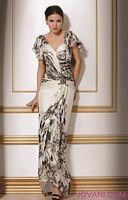 Jovani White Black Evening Dress 17113 image