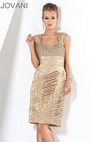 Jovani Ruched Cocktail Dress with Beading 171167 image