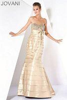Jovani Pleated Mermaid Evening Dress with Bolero 171170 image