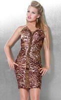Jovani Animal Print Beaded Cocktail Dress for Homecoming 171193 image