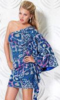 Jovani One Shoulder Animal Print Sequin Cocktail Dress 171206 image