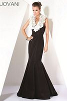 Jovani Flower Halter Mermaid Evening Dress 171216 image