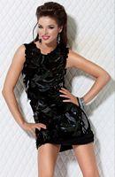 Jovani Black Floral Embellished Illusion Cocktail Dress 171282 image