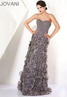 Jovani Floral Applique Evening Dress 171354 image