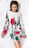 Jovani Bright Large Floral Print Cocktail Dress 171376 image