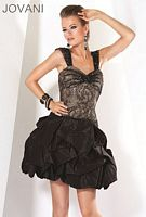 Jovani Evenings Short Party Dress with Pickup Skirt 171525 image