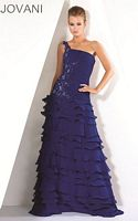 Jovani Evenings One Strap Ruffle Gown 171710 image