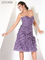 Jovani Evenings Tiered Cocktail Dress with Rosette 171969 image