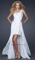 GiGi Chiffon Cocktail Prom Dress with Long Chiffon Overlay 17218 image