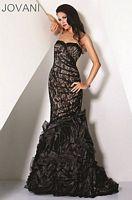 Jovani Black Nude Evening Dress 17241 image