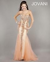 Jovani 17438 Beaded Tulle Mermaid Dress image