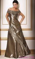 Jovani Taffeta and Lace Evening Gown 17462 image