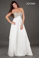 Jovani 1803 Beaded Empire Evening Dress image