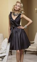 Mori Lee Affairs 181 Sleeveless Ruffle V Neck Short Bridesmaid Dress image
