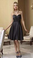 Mori Lee Affairs 186 Satin Knee Length Bridesmaid Dress image
