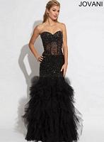 Jovani 1864 Tiered Tulle Evening Dress image