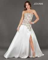 Jovani 1870 Formal Dress with Beaded Flowers image