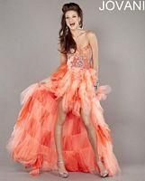 Jovani High Low Ruffle 1942 Party Dress image