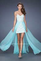 La Femme 19885 High Low Dress with Detachable Skirt image